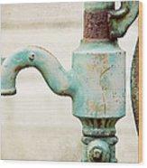 The Aqua Pump Wood Print