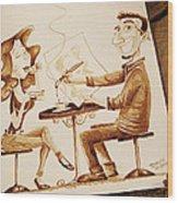 The Artist - Coffee Art Wood Print