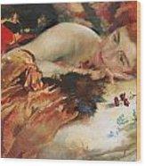The Artist's Mistress Wood Print