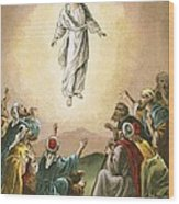 The Ascension Wood Print by English School