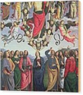 The Ascension Of Christ Wood Print by Pietro Perugino