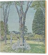 The Audition Wood Print by Childe Hassam