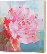 The Aura Of A Peach Blossom Wood Print