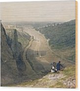The Avon Gorge - Looking Over Clifton Wood Print