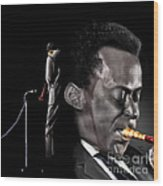The Back And The Affront Of Miles Davis Wood Print