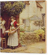 The Ballad Seller Wood Print