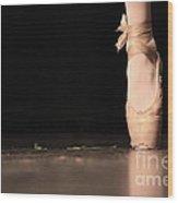 The Ballet Wood Print