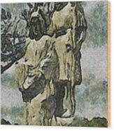The Baptism Wood Print