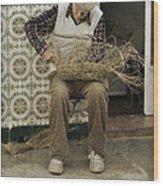 The Basket Maker Wood Print