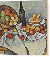 The Basket Of Apples Wood Print