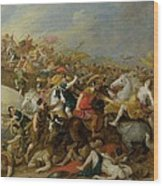 The Battle Between The Amazons And The Greeks Wood Print