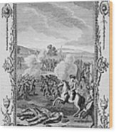 The Battle Of Culloden Wood Print