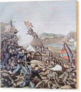 The Battle Of Franklin, November 30 Wood Print by Everett