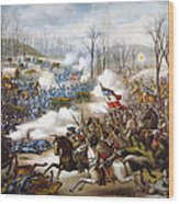 The Battle Of Pea Ridge, Wood Print