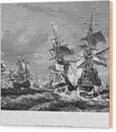 The Battle Of Texel, 1673 Wood Print