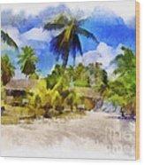 The Beach 01 Wood Print