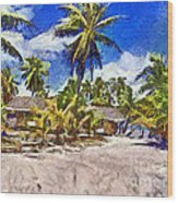 The Beach 02 Wood Print by Vidka Art