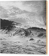 The Beach At Bridgehampton Wood Print