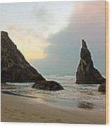 The Beaches Of Bandon Oregon Wood Print