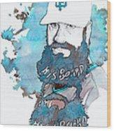 The Beard Wood Print