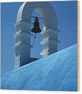 The Bell Tower In Mykonos Wood Print