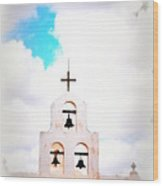 The Belltower In Tuscon Az Wood Print