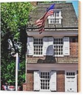 The Betsy Ross House Wood Print