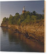 The Big Bay Point Lighthouse, Now A Bed Wood Print