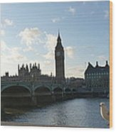 The Big Ben And Dove Wood Print