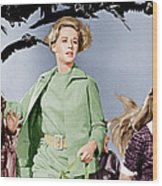 The Birds, Tippi Hedren Center, 1963 Wood Print by Everett
