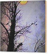 The Black Crows Wood Print