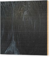 The Black Narrow Path Wood Print