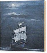 The Black Pearl Wood Print