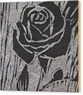 The Black Rose Wood Print