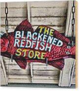 The Blackened Redfish Store Wood Print