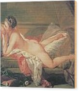 The Blonde Odalisque Wood Print