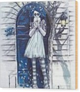 The Blue Door Wood Print by Lori Keilwitz