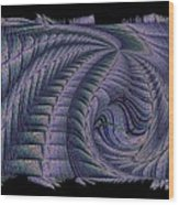 The Blue Highway Wood Print