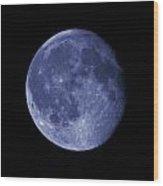 The Blue Moon Wood Print