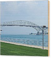 The Blue Water Bridge  Wood Print