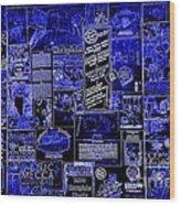 The Blues In Memphis Wood Print by Carol Groenen