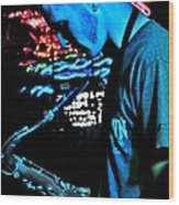 The Blues Player Wood Print