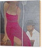 The Blues Singer Wood Print