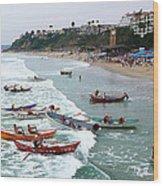 The Boat Race Wood Print