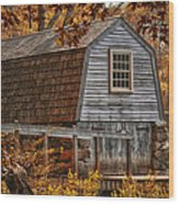 The Boathouse At The Manse Wood Print by Tricia Marchlik