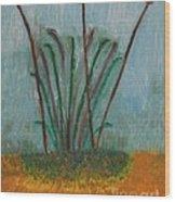 The Bog Pond Wood Print