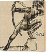 The Bow Man Wood Print