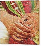 The Bride's Hands Wood Print