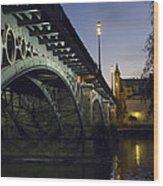 The Bridge Of Triana, Puente De Triana Wood Print