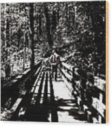 The Bridge Shadow Wood Print